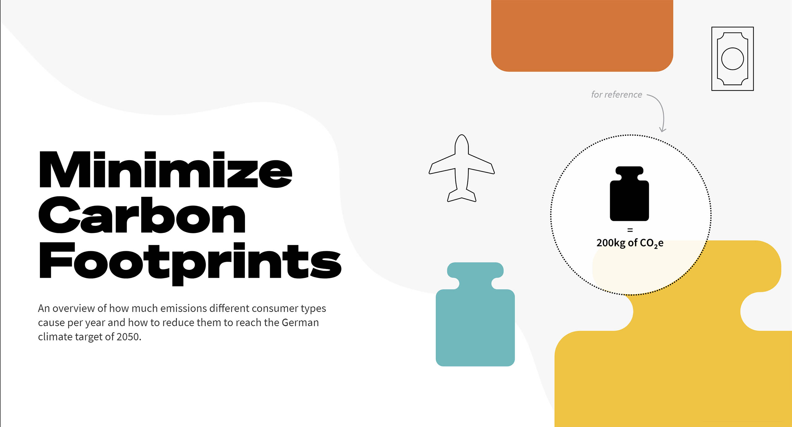 Start Screen Minimize Carbon Footprints Website