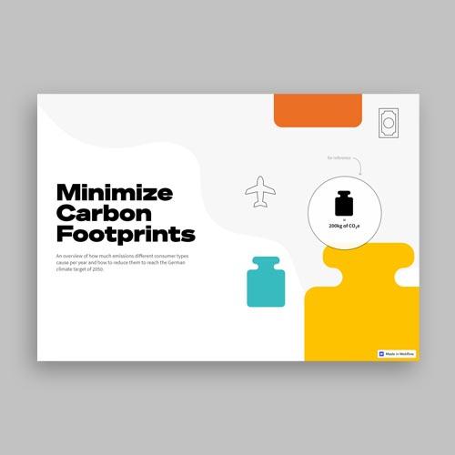Preview Minimize Carbon Footprints Website