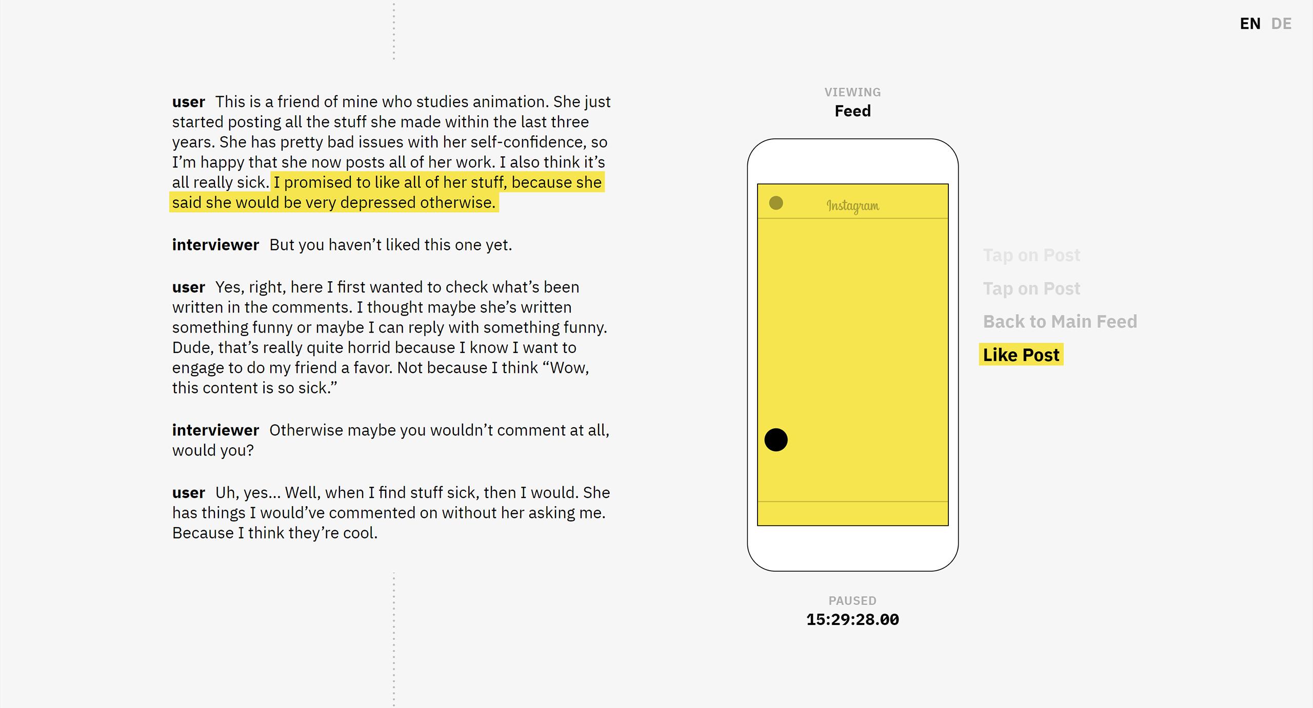 yellow white text screen